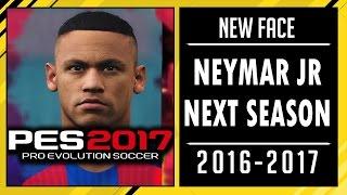 PES 2017 | New Face & Hair Neymar Jr Next Season • 2016 / 2017 • HD