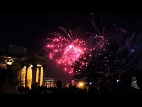 видео: Салют 9 мая 2015 г. Новосибирск
