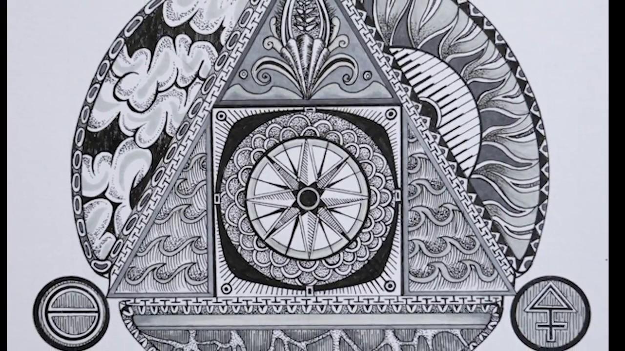 Drawing Alchemy Symbols-the Philosopher U0026 39 S Stone