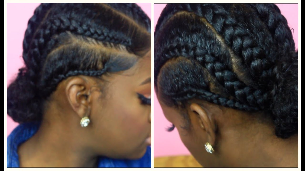 Protective Braided Hairstyle - YouTube