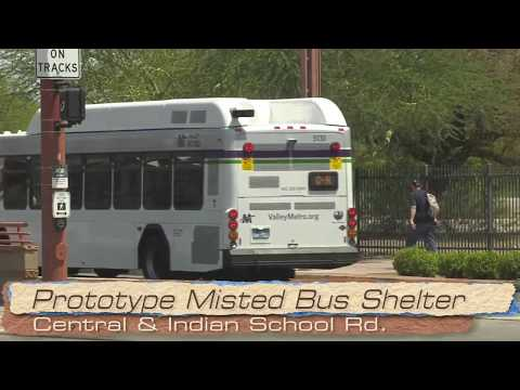 New Misted Bus Shelter in Phoenix