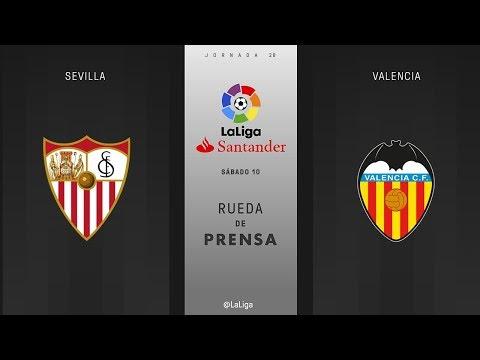 Rueda de prensa Sevilla vs Valencia
