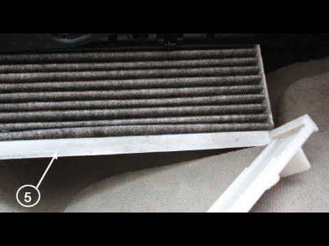Как заменить воздушный фильтр кабины на Audi A4 8K B8