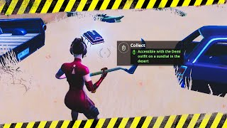 Fortbyte 40 Accessible with the Demi Outfit on a Sundial in the Desert Location