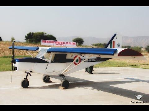Army Microlight aircraft land at Go Fly Zone Airfield, Shahpura, Jaipur