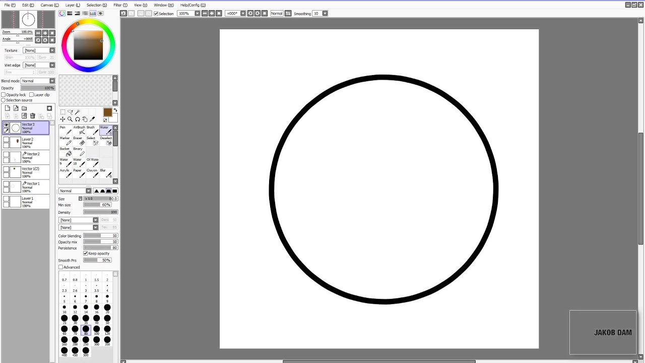 How To Draw A Circle In Paint Tool Sai