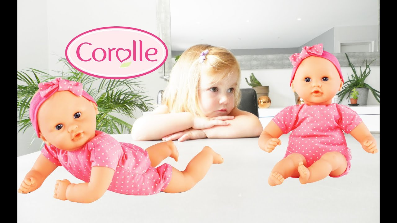 poup e corolle b b mon premier baby doll unboxing youtube. Black Bedroom Furniture Sets. Home Design Ideas