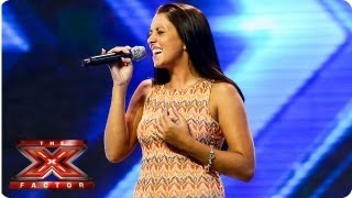 Stephanie Woods sings Songbird by Eva Cassidy - Arena Auditions Week 3 - The X Factor 2013
