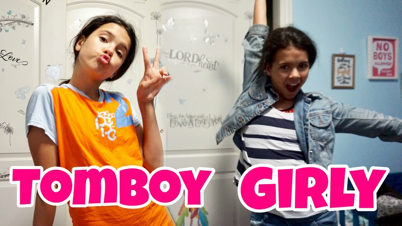 girly girl vs tomboy afterschool routine - youtube