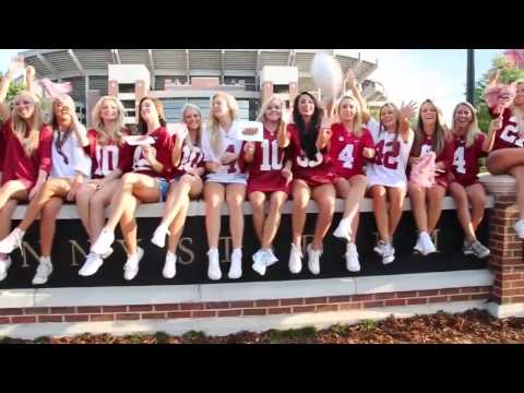 "University of Alabama Alpha Phi Girls Recruiting Video ""Sweet Home Alabama"" (2015)"