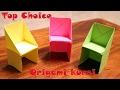 Cara membuat origami kursi origami chair and table