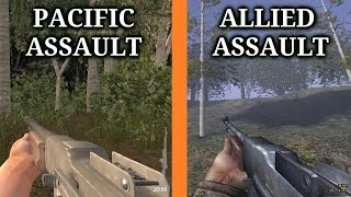 medal of Honor: Allied Assault VS Pacific Assault Weapon Comparison(Sounds & Animations)