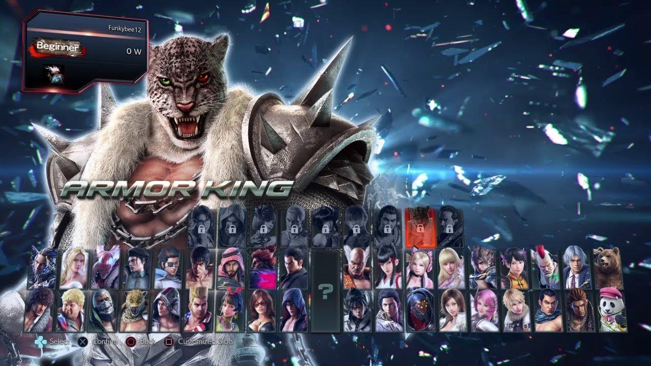 Tekken 7 All Characters Full Roster Select Screen Showcase Youtube