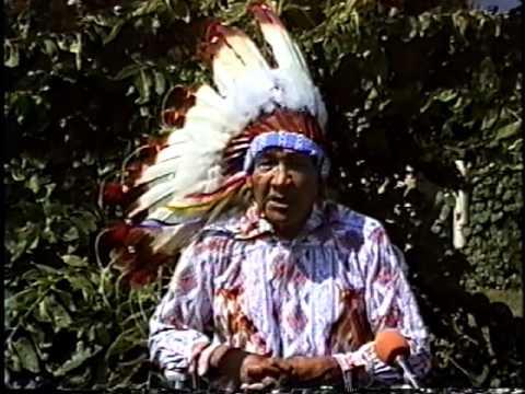 Lakota Elder Garfield Grassrope on Missouri River 1991