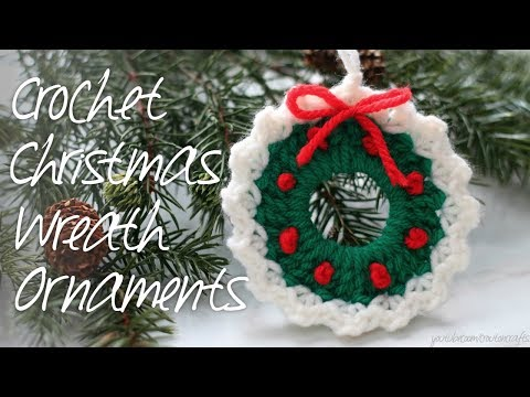 Crocheted Wreath Ornaments!