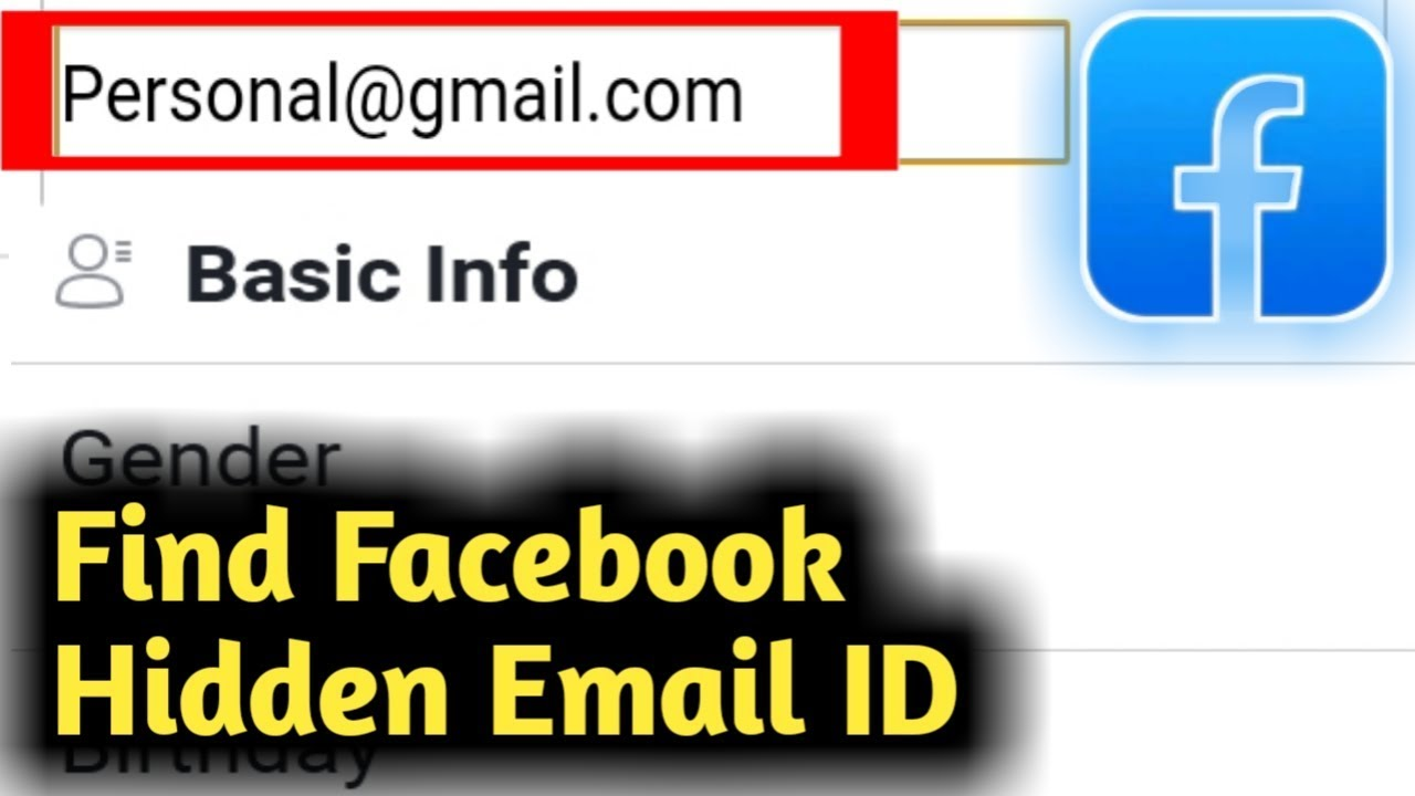 How To Find Facebook Hidden Email Address Youtube