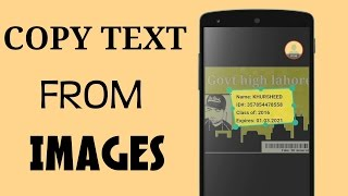 Copy Text From images , Hindi/Urdu