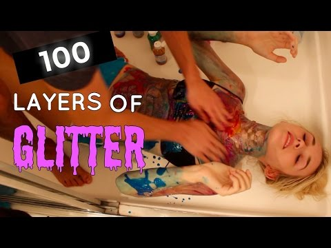 100 Layers Of Glitter On My Body| Taylor Skeens