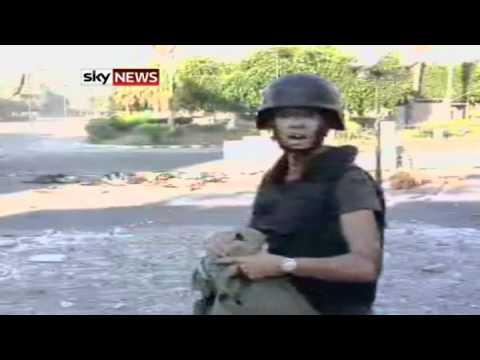 Sky's Alex Crawford joins the rebels in Zawiyah