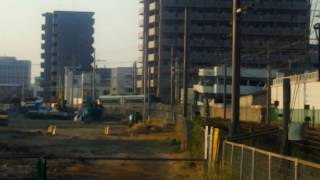 JR四国 松山駅付近 国鉄色キハ185(予讃線周遊ワイン・クラフトビール列車用)松山送り込み回送 到着