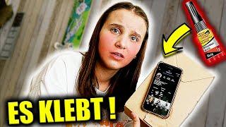 iPhone mit SEKUNDENKLEBER  festgeklebt !