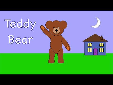 Teddy Bear, Teddy Bear Turn Around  | NURSERY RHYME | RainbowRabbit | (Official Video)