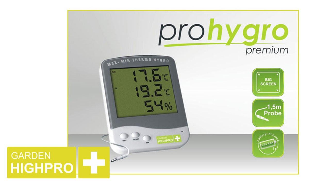Opti Thermo Hygro Premium Thermo- Hygrometer Grow
