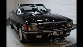 Mercedes-Benz 350SL Cabriolet 1978 Triple black -VIDEO- www.ERclassics.com