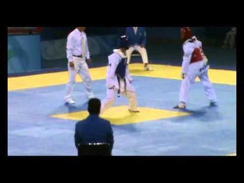 Beijing taekwondo, final primera categoria varones Memo Perez vs Gabriel Mercedez
