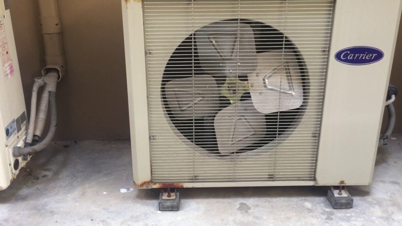 (Shown Turned On And Off) Carrier Brand Air Conditioners