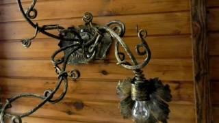 Идеи дизайна светильников, как украсить патрон для лампочки ковкой, кованое бра(, 2016-09-17T11:17:01.000Z)