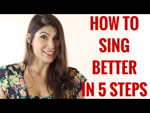 Singing-How to sing better in 5 steps