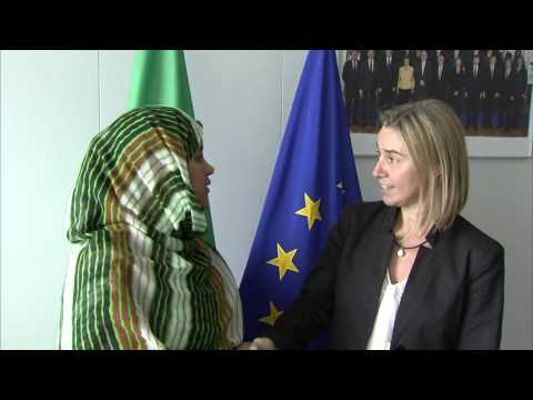 Mogherini with Vatma Vall MINT SOUEINA, Mauritanian Minister for Foreign Affairs and Cooperation