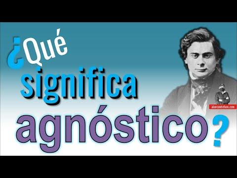 ¿Qué significa agnóstico?