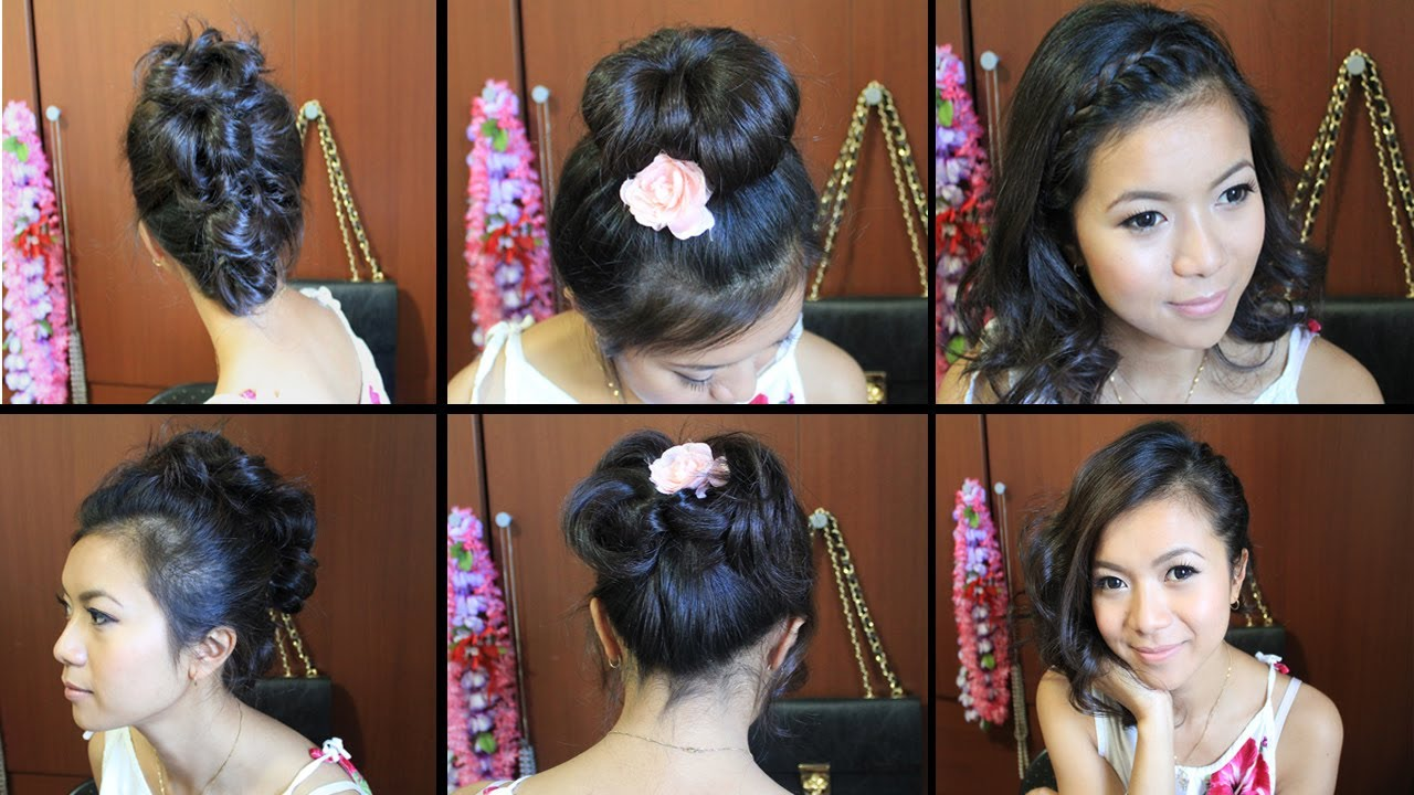 Cute Hairstyles for Short Medium Hair Tutorial - YouTube