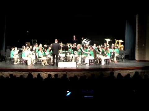 Bangs Middle School Band concert 2013