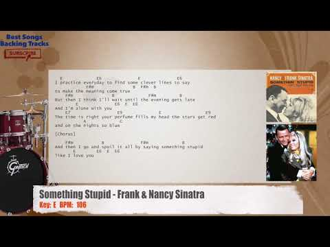 Something Stupid - Frank & Nancy Sinatra Drums Backing Track with chords and lyrics