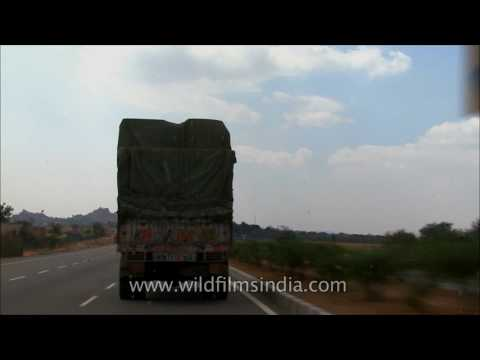 Driving on NH48 from Jaipur, Rajasthan