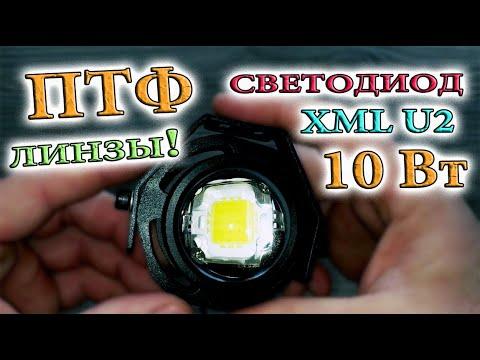 Линзованные противотуманки со светодиодом XML U2. Разборка. Герметизация