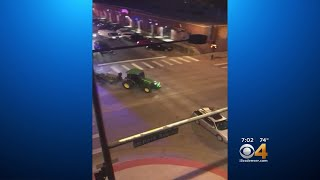 WATCH: Denver Police Chase Tractor On Streets And Sidewalks Of Denver