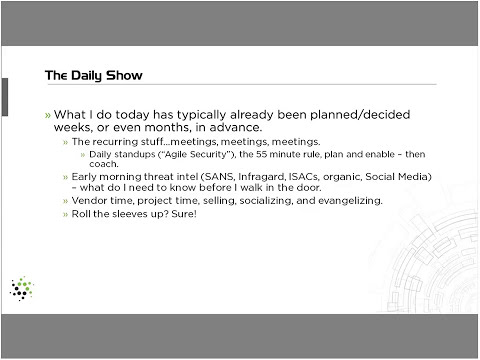 A Day in the Life of a CISO