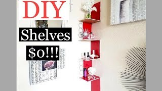 Cheap DIY Room Decor Shelves $0!!! Inexpensive Organization!