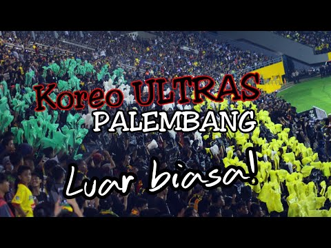 Luar biasa! Koreo Ultras Palembang dan Singamania disambut Gol Marko saat SFC vs Persib