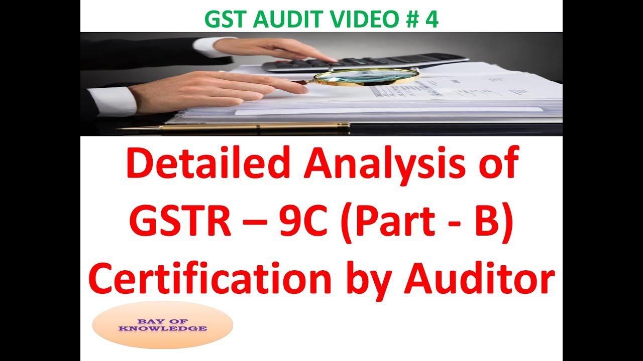 Gst Audit Report Hindi Gstr 9 C Gst Audit Report Format L Gst