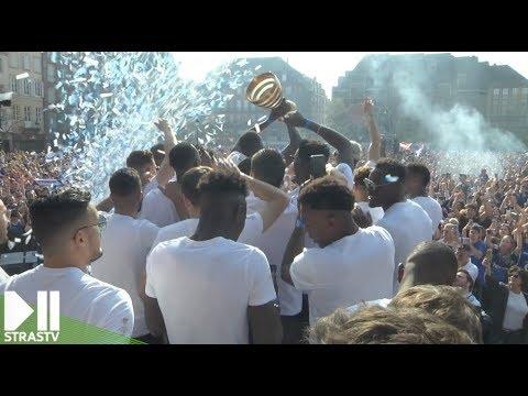 Coupe de la Ligue : célébration sur la place Kleber