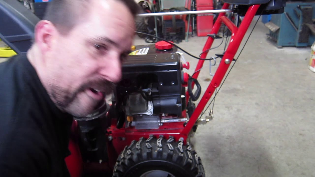 Troy Bilt Storm 2620 carb clean  fuel screw mod     then give up and buy new carb for  20