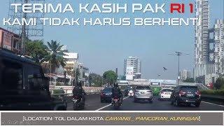 Mantab! Sebelahan Dengan RI 1 (Presiden Jokowi) di Tol Tanpa Perlu Pengosongan Jalan