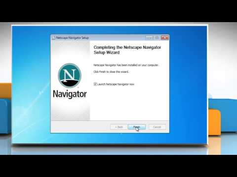 How to install Netscape® Navigator 9 on Windows® PC