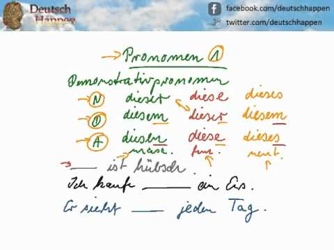 how to learn german pronouns
