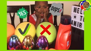 🔴Don't chose the wrong mystery egg slime challenge!
